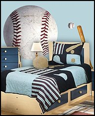 Bedroom Theme Ideas on Bedroom Boys Baseball Theme Decorating Ideas