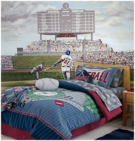 gallery for baseball field wallpaper mural
