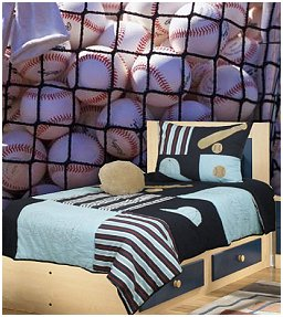 Baseball Bedroom Boys Theme Decorating Ideas