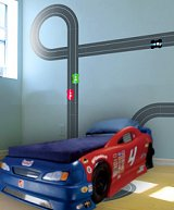 for boys rooms race car bedroom decorating nascar hot wheels