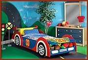 Race cars theme beds car racing theme bedrooms boys sports theme