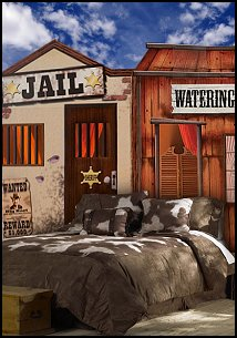 The Old West Jail Standee Has The Look And Feel Of An Old Western Jail From