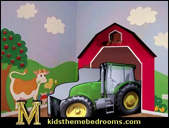 John Deere Farm Theme Bedrooms Tractor Theme Beds John