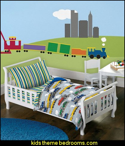 train bedroom decorating ideas - transportation theme beds - train ...