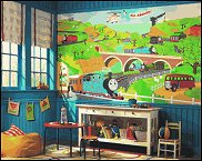 Wonderful Thomas The Tank Engine Wall Mural   Fun Wall Decoration For The Train Theme  Bedroom,