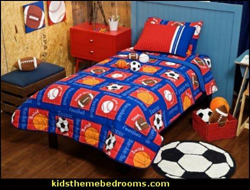 sports bedroom ideas - all sports bedding - all sports wall ...